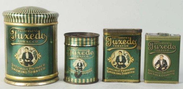 Lot of 4: Tuxedo Tobacco Tins.