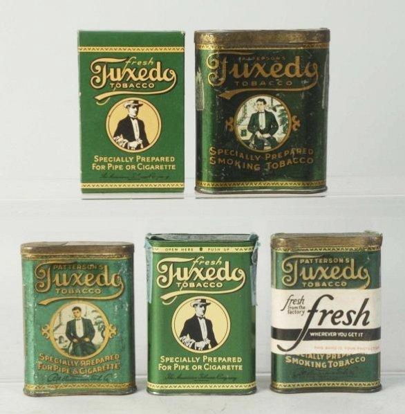 Lot of 5: Tuxedo Tobacco Tins.