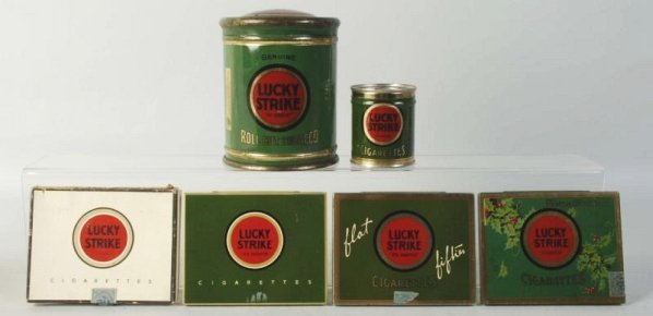Lot of 6: Lucky Strike Tobacco Tins.