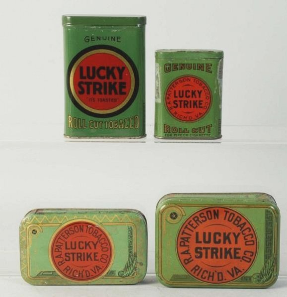 Lot of 4: Lucky Strike Tobacco Tins.