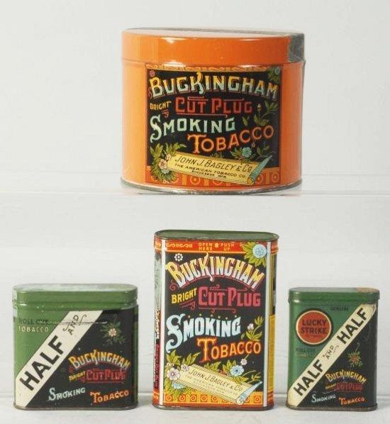 Lot of 4: Buckingham Tobacco Tins.