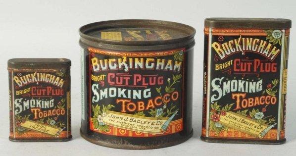Lot of 3: Buckingham Tobacco Tins.