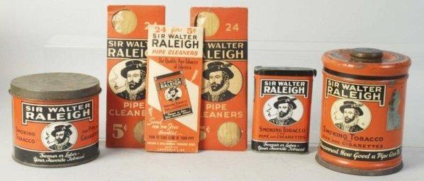Lot of 3: Sir Walter Raleigh Tins.