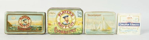 Lot of 4: Players Tobacco Tins.