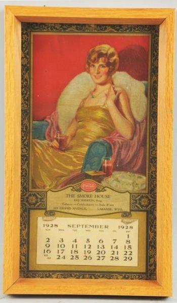 1928 Coca-Cola Distributors Calendar.