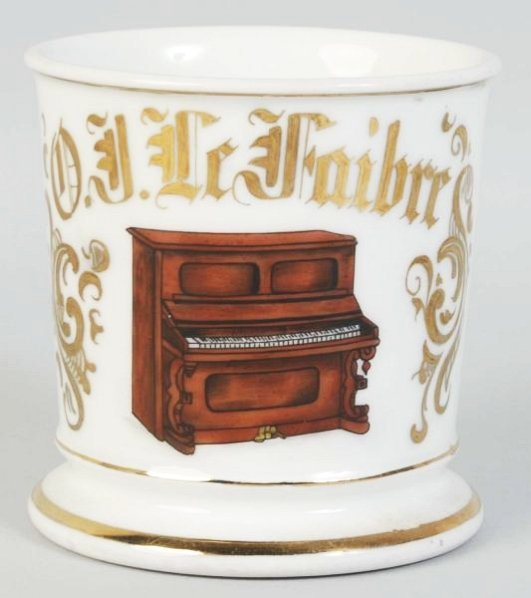 Upright Piano Shaving Mug.
