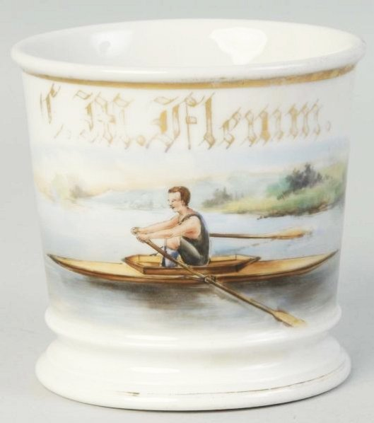 Rowing Shell Shaving Mug.
