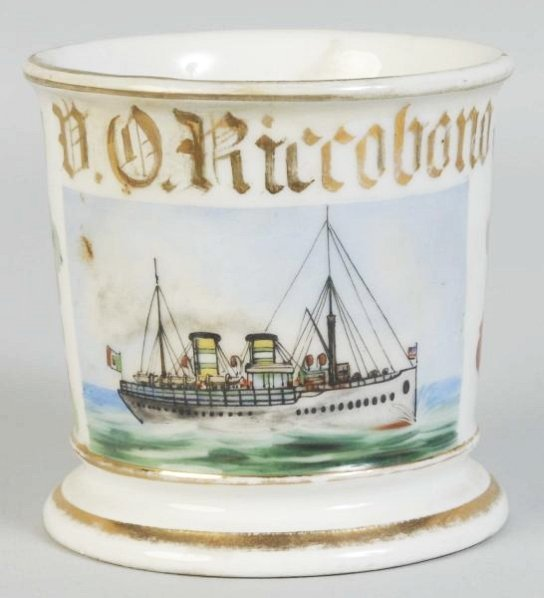 Ocean Going Steamboat Shaving Mug.