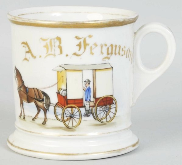 Horse Drawn Milk Wagon Shaving Mug.
