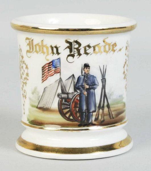 Civil War Soldier Shaving Mug.