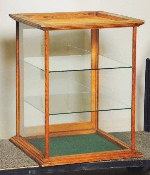 Oak Display Case.