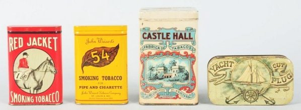 Lot of 4: Assorted Tobacco Tins.
