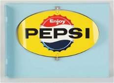 C1964 Pepsi Tin Whirlybird Flange Sign