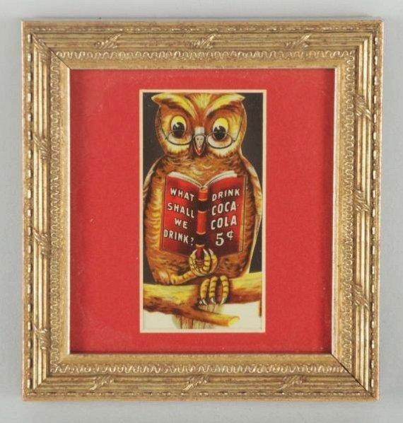 1906 Coca-Cola Owl Bookmark.