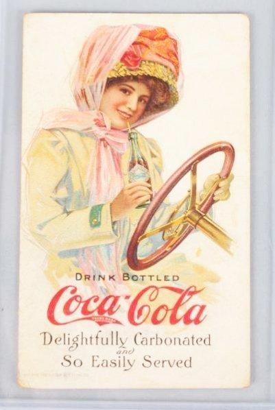 """1911 Coca-Cola """"Motor Girl"""" Ink Blotter."""