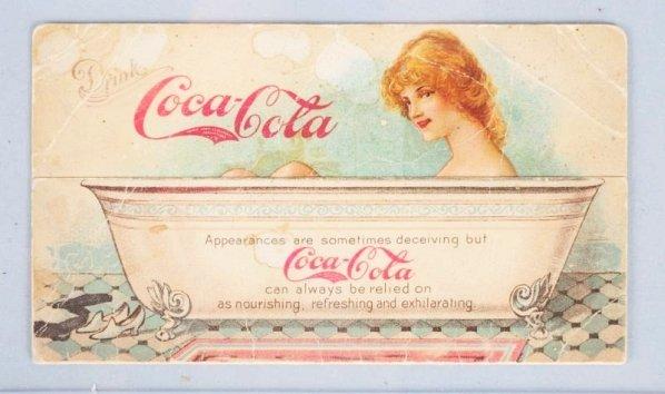 1907 Coca-Cola Folding Trade Card.