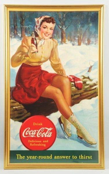 1940 Large Coca-Cola Poster.