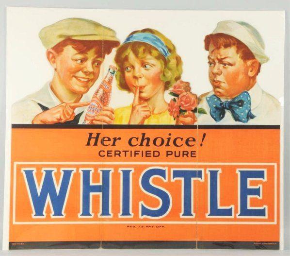 C.1930s Whistle Tri Fold Cardboard Cutout.