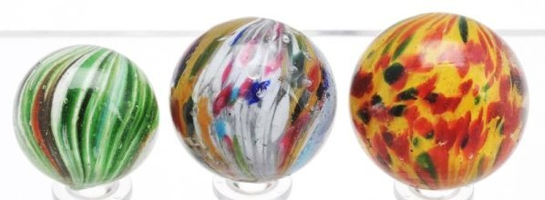 Lot of 3: Onionskin Marbles.