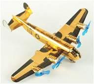 Marx Tin Litho Wind-up Airplane Toy.