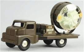 Structo Pressed Steel Army Search Light Truck
