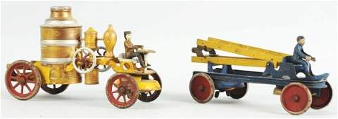 Lot of 2 Kingsbury Fire Pumper Toys