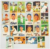 Lot of 22: 1951 Bowman Baseball Cards.