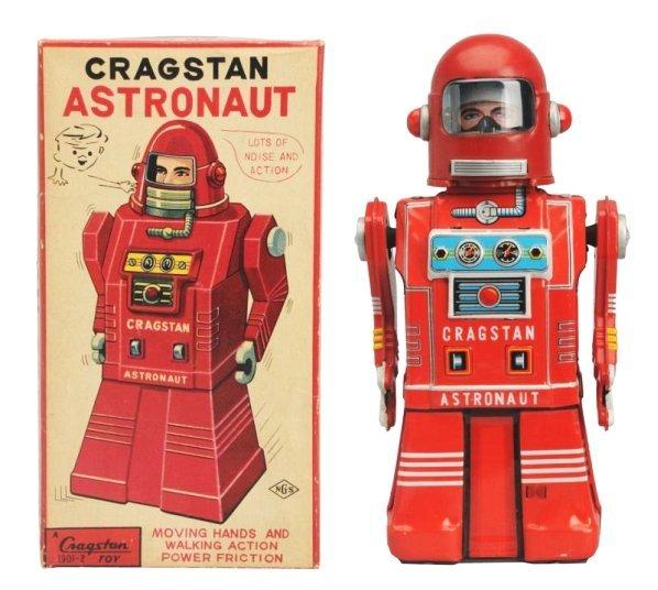 Tin Litho Crank Wind Cragston Astronaut.