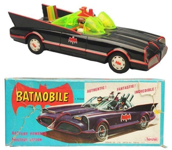 Battery Op. Japanese Batmobile Toy.