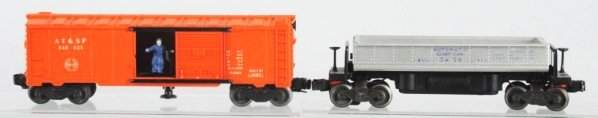 Lot of 2: Lionel Train Cars with Boxes.