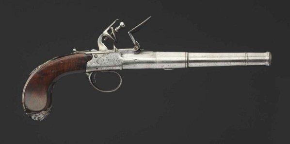 English Flintlock .60 cal. Pistol.