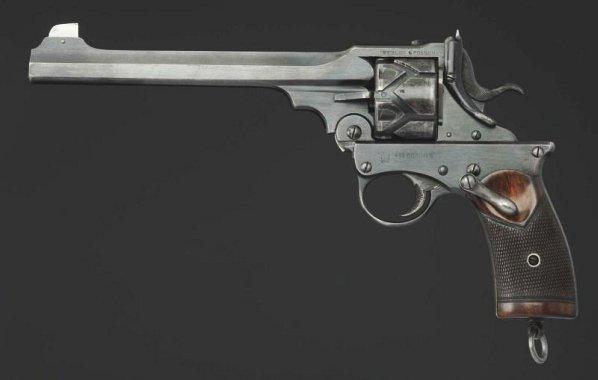 Webley-Fosbery .455 Automatic Revolver**. - 2