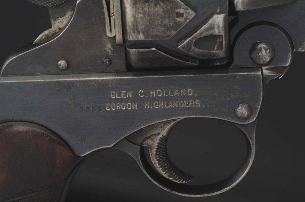 Webley-Fosbery .455 Automatic Revolver**. - 6