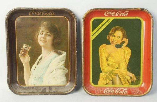 Lot of 2: Coca-Cola Serving Trays.