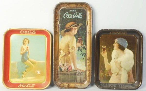 Lot of 3: Coca-Cola Serving Trays.
