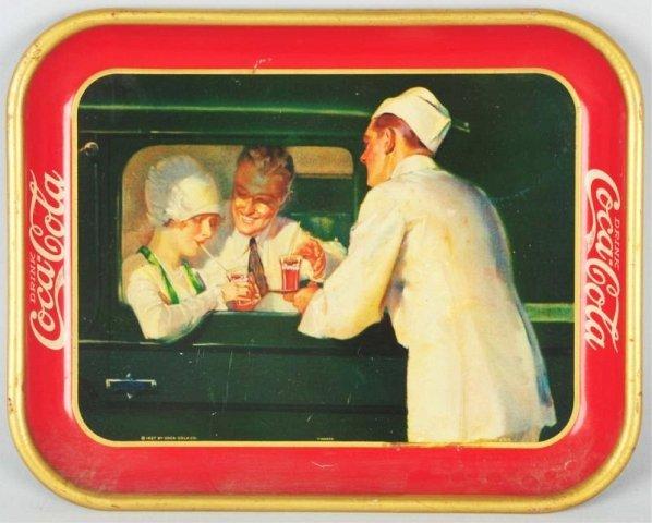 1927 Coca-Cola Serving Tray with Carhop.