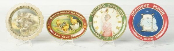 Lot of 4: Advertising Tip Trays.