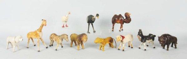 Lot of 11: Schoenhut Animals.