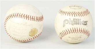 Lot of 2: Vintage Autograped Baseballs.