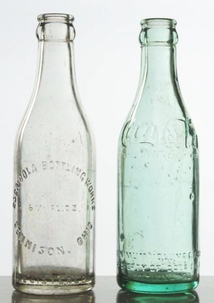Lot of 2: Coca-Cola Straight Sided Bottles.