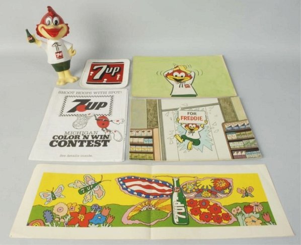 Lot of 7Up Advertising.