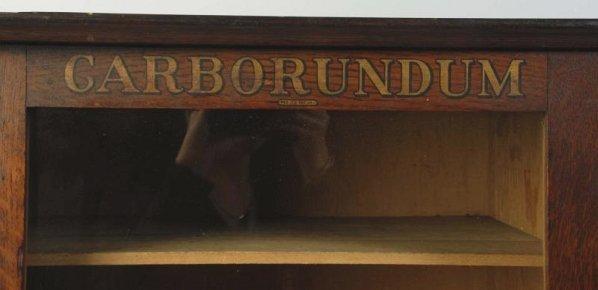 Early Carborundum Sharpening Stone Display Case. - 8