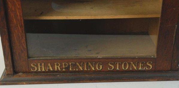 Early Carborundum Sharpening Stone Display Case. - 9