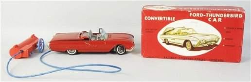 Japanese Tin Batt Op Ford Thunderbird Car