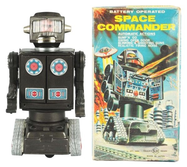 Tin Litho Plastic Space Commander.
