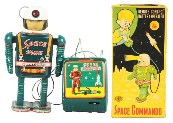 Tin Litho & Painted Space Commando.