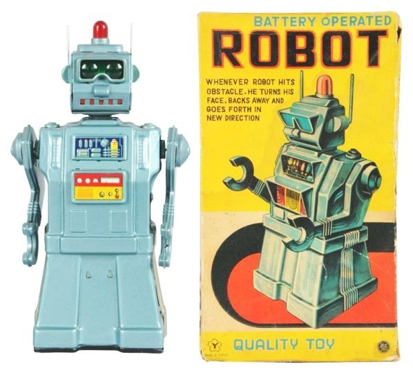 Tin Litho & Painted Robot.