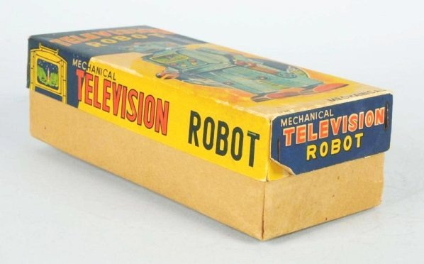 Tin Litho Wind-up Television Robot. - 6