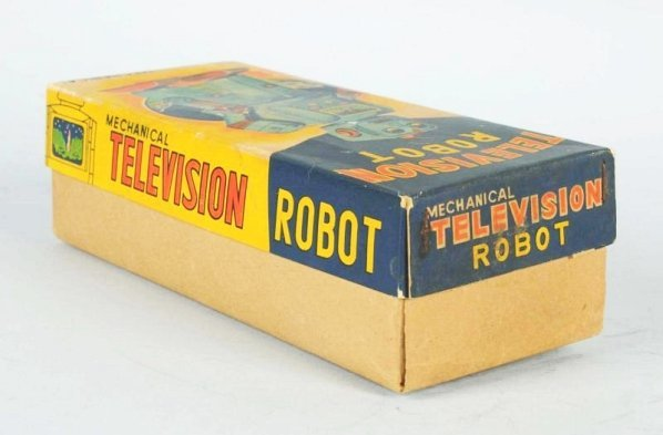Tin Litho Wind-up Television Robot. - 7