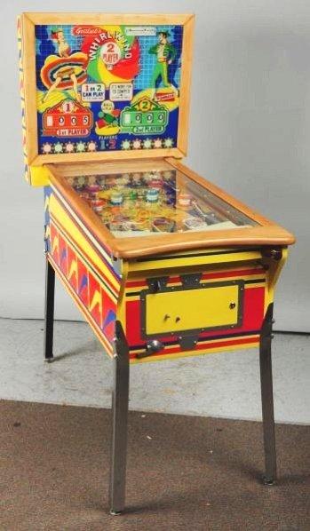 Gottlieb's Whirl-Wind Pinball Machine with  Keys.